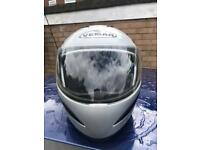 Size medium to large motorbike helmet