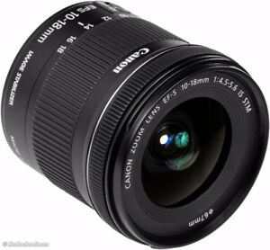 10-18mm wide angle canon lens
