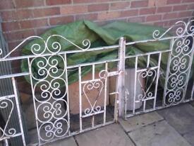 8 ft wrought iron fancy gates