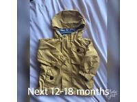 Next boys light weight jacket 12-18 months