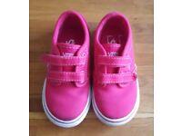 Girls Pink Vans Size 8 Excellent Condition