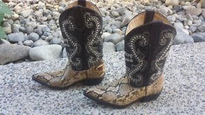Ladies Python & Leather Cowboy Boots for Sunfest!