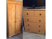Wardrobe & Drawer Set *DELIVERY AVAILABLE*
