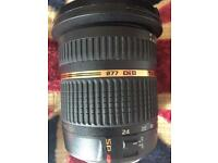 Tamron SP 10-24 canon fit wide angled lens £100