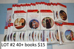 Romance novels - various lots for sale