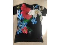 Brand new with tags Ted Baker Forget Me Not floral top in black