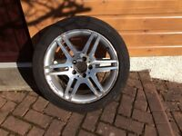 4 x AMG line wheels and Continental Continue Sport Contact Tyres for Mercedes C Class