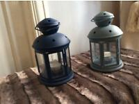 2 Metal Lanterns