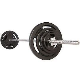 85KG Standard Weights Set - Gym Barbell Bar Plates