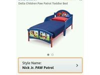 Paw Patrol Toddler Bed With Mattress, Quilt, Pillows & Cover Set