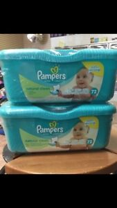 Unopened pampers wipes