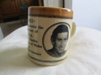 English mug commemorating the engagement of Prince of Wales to Lady Diana Spencer