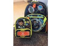 Kids school bag and lunchbox