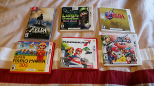 3 nintendo 3ds games+ Breath of the wild (Switch)