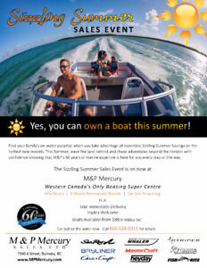 Sizzling Summer Boat Sale at M&P