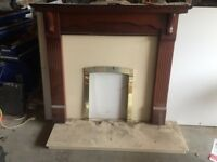 Fire place and harth.