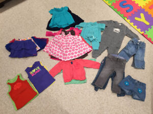 HUGE Lot Girls Baby clothes incl. Roots,GAP, Gymboree  84 items
