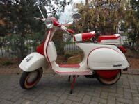 vintage Vespa, restored to original classic condition
