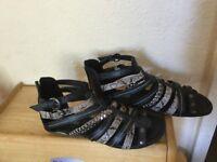 Gladiator sandals size three new