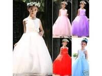 Two Lilac Children's Flower Girl Dresses