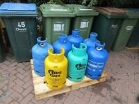 7 Empty Gas Bottles £5 each or £30 for all