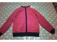 Boys fleece zipper cardigan size 5-6 from M&S
