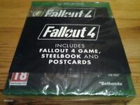 xbox one fallout 4 steel book case NEW