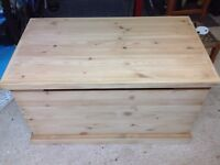 Solid pine chest. Toy box. Ottoman.