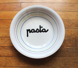 "Ceramic Pasta Bowl 11 1/2 "" Diameter"