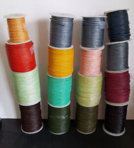 2 mm leather cord - assorted colors