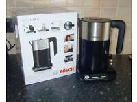 Bosch TWK8633GB Styline Kettle Black 1.5L 3000W 4 Temperature Settings