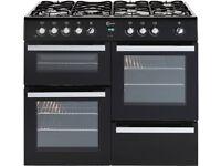 Brand New FLAVEL Milano 100 MLN10FRK Dual Fuel Range Cooker -Black & Chrome GRADED Range cooker-