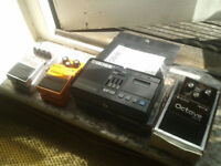 Vintage Classic Boss FX Pedals - Octave OC-2, Bass Synth SYB-3, Dist DS-1, Dr Beat DB-66. Some Boxed