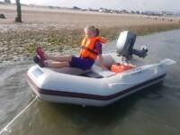 Brand new inflatable rib dinghy boat + 5hp mariner