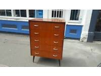 1960s danish style chest of drawers