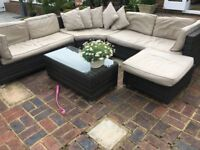 Rattan Garden Furniture Set - Sold as Seen