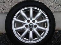 16INCH 5/108 JAGUAR ALLOY WHEELS WITH TYRES FIT FORD ETC GOOD CONDITION