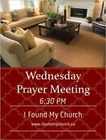 Wednesday night prayer meeting at House Church!