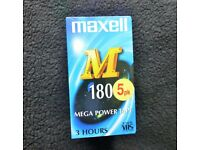 Maxell VHS E-180 Video Cassette Tapes
