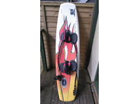 Kite surfing board, kite and harness (proceeds of sale to go to charity)