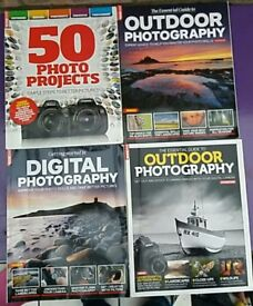 4 photography magazines.