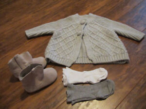 Gap boots and 6-12 sweater combo