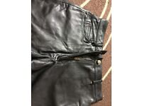 Women's real leather trousers 12