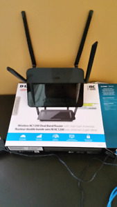 D Link dual band router with high gain antennas