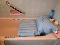 Mangar airflo MK3 inflatable bathing cushion, bath aid, lift, chair