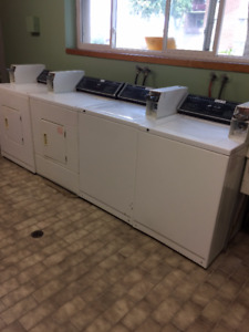 Coin washers/dryers 3 of each=6 units total