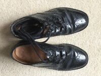 All leather black highland dance shoes for boys
