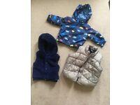 Baby boy raincoat and body warmers