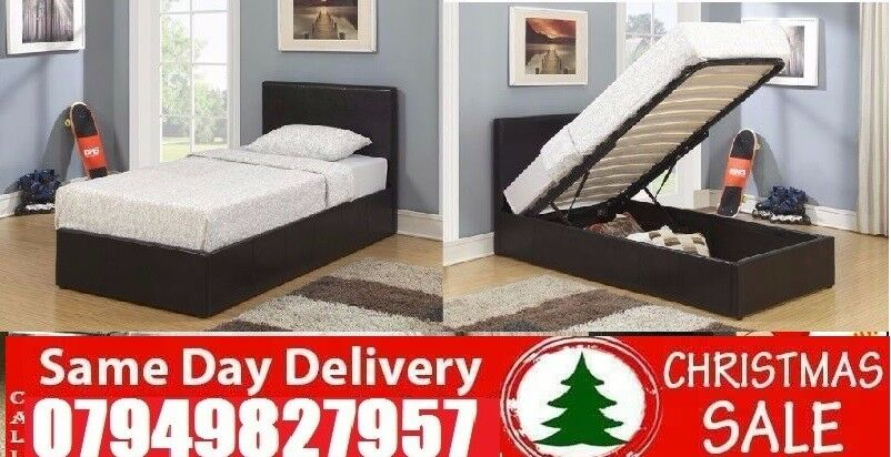 """ASpecial Offer small double single kingsize LEATHER STORAGE Beddingin Haringey, LondonGumtree - Please click """"See all ads"""" at the top to see more Beds and other furniture in our store"""