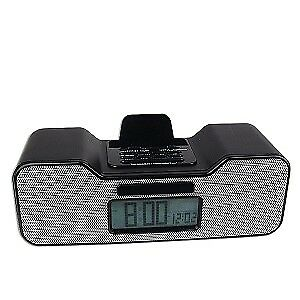 Fashionation Portable Alarm Clock Radio for iPod Dock Connector